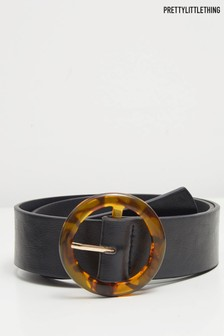 PrettyLittleThing Round Buckle Belt