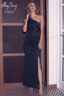 5e51795ffc3 Lipsy Petite One Shoulder Sequin Maxi