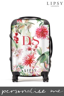 Personalised Lipsy Amy Floral Print  Suitcase By Koko Blossom