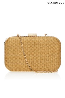 Glamorous Straw Woven Clutch Bag