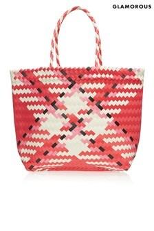 Glamorous Check Detail Shopper Bag