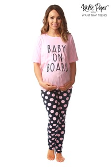 Want That Trend Maternity 'Baby On Board' Pyjama Set