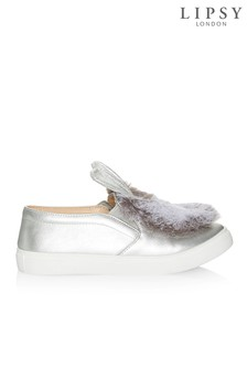 Spot On Faux Fur Bunny Trainers