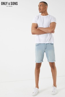 Only & Sons Light Blue Wash Demin Shorts
