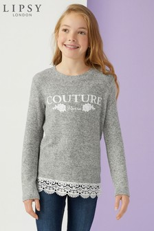 Lipsy Girl Grey Cosy Couture Sweat