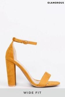 Glamorous Wide Foot Block Heel