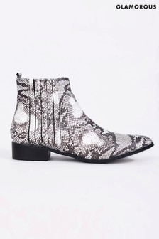Glamorous Snake Western Ankle Boot