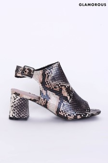Glamorous Snake Print Shoe Boots