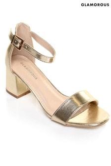 00281bd5026 Buy Women s footwear Footwear Gold Gold Sandals Sandals Glamorous ...