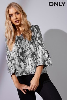 Only Snake Print Blouse