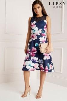 שמלת מידי סקובה פרחונית של Lipsy