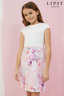 Lipsy Girl 2 In 1 Floral Dress