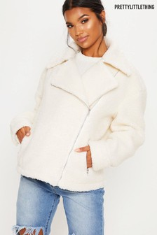 PrettyLittleThing Teddy Aviator Jacket