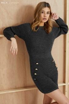 Mela London Button Detail Jumper Dress