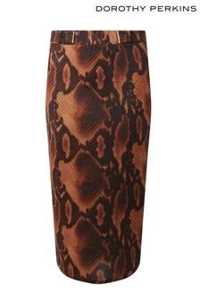 Dorothy Perkins Tall Snake Print Skirt