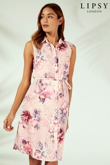 Lipsy Floral Printed Shirt Dress