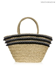 South Beach Straw Tote Bag