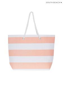South Beach Striped Beach Bag
