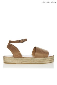 South Beach Open Toe Flatform Sandals