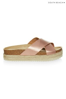 South Beach Matte Cross Over Sandals