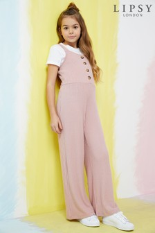 Lipsy Girl Button Jumpsuit