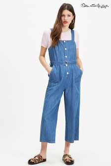Miss Selfridge Denim Pinafore Jumpsuit