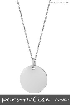 Personalised Silver Engravable Disc Pendant by Simply Silver