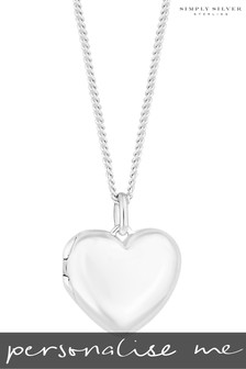 Personalised Sterling Silver Engravable Heart Locket By Simply Silver