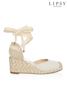 Lipsy Tie Up Espadrille Wedges