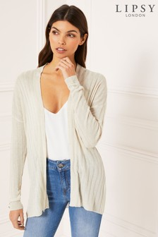 Lipsy Ribbed Waterfall Cardigan