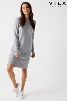 Vila Rollneck Knit Dress