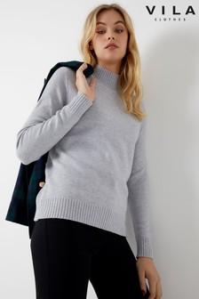 Vila Long Sleeve Knit Jumper