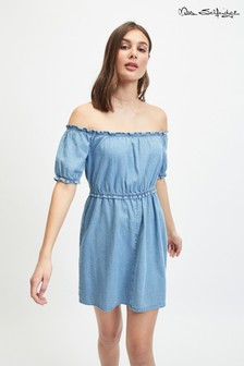 Miss Selfridge Denim Bardot Dress