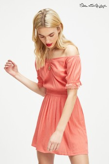 Miss Selfridge Ruched Front Bardot Dress