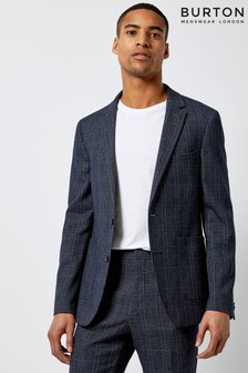 Burton Slim Fit Check Blazer