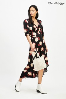 Miss Selfridge Printed Wrap Top