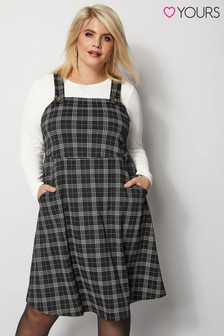 Yours Pinafore Check Dress