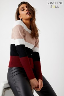 Sunshine Soul Wide Stripe Rib Jumper