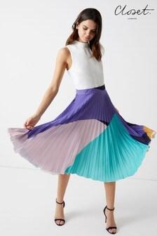 Closet Pleated Skirt Dress