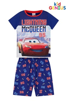 Kids Genius Lightning McQueen Cars Shorts Pyjama Set