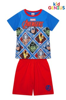 Kids Genius Marvel Avengers Shorts PJ Set