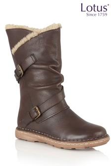 Lotus Leather High Leg Boot