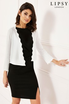 Lipsy Scallop Trim Shrug