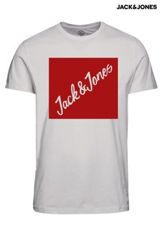 Jack & Jones Box Logo Print T-Shirt