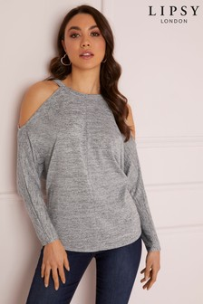 321d4001aa7288 Buy Women's tops Tops Grey Grey Lipsy Lipsy from the Next UK online shop