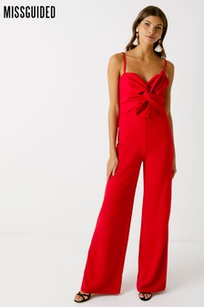Missguided Bow Detail Jumpsuit