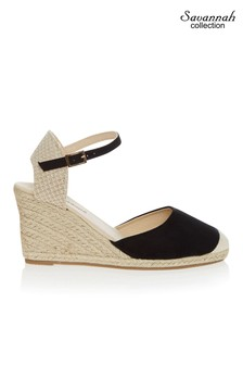 Savannah High Closed Toe Espadrille Wedge