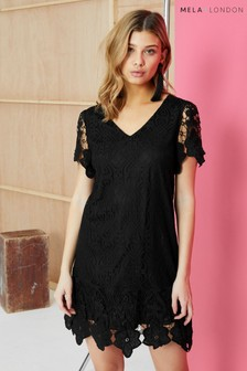 Mela London Border Lace Shift Dress