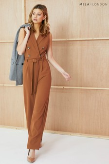 Mela London Military Collared Jumpsuit