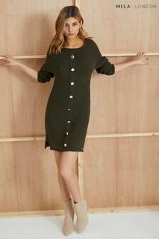 e19e0e98dd2 Mela London Military Bardot Dress